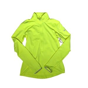 NIKE neon dri-fit turtle neck pullover workout top